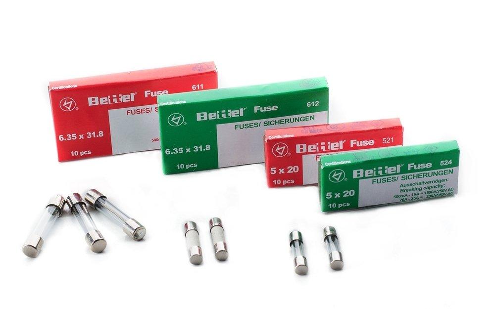 Sicherung 10A tr/äge 5x20mm 250V TYP 522 10er P/äckchen Feinsicherung Glassicherung G-Sicherung