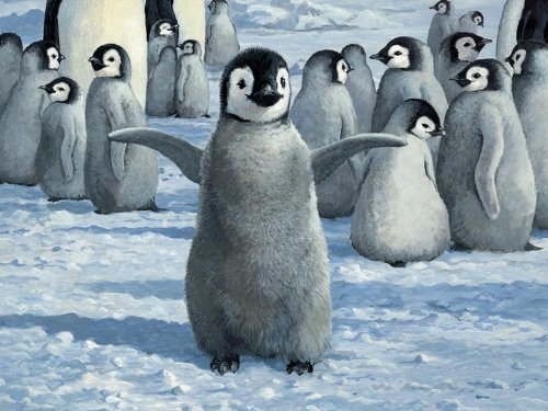 Playful Penguins 400 Piece Family Jigsaw Puzzle