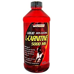 Earth\'s Creation Liquid L-Carnitine 5000MG & Vitamin B5 - Maximum Endurance - 16 oz Orange Flavor