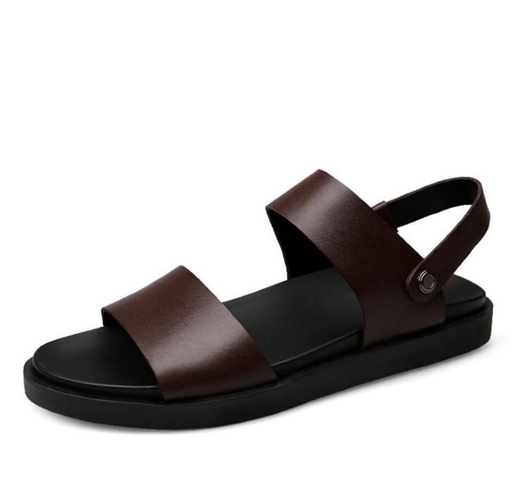 XIE Männer Schuhe Aus Echtem Leder Sandalen Strand Sommer Pull auf Slipper Offene spitze Atmungsaktive Slides Rutschfeste Größe 38 Bis 44