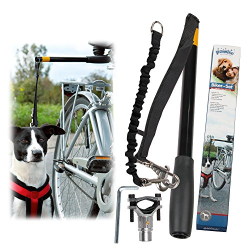 PAWISE Dog Bike Leash Hands Free Dog Leash 550-lbs Pull Strength Leash