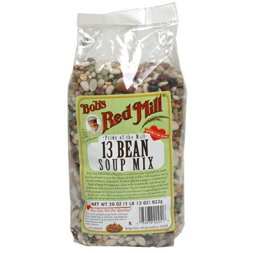 13 Bean Soup Mix - Bob's Red Mill Soup Mix, 13 Bean, 29-Ounce Units (Pack of 8)(Case Contains: 232 oz) (Item Size: 29 OZ)