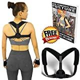 Posture Corrector for Men & Women Adjustable (28''-48'') - Clavicle, Thoracic, Shoulder Support Brace to Improve Bad Posture, Upper Back Pain, Shoulder Alignment, Thoracic Kyphosis, Cervical Neck