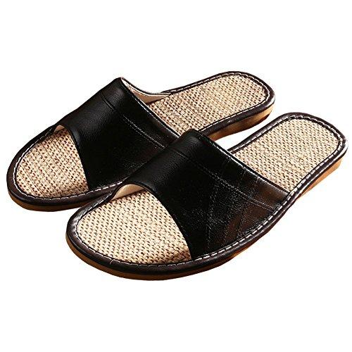WZYJYM-Fashion-Unisex-Stripes-Linen-Skidproof-House-Indoor-Lightweight-Hemp-Slippers-Slide-Scuff-Sandals
