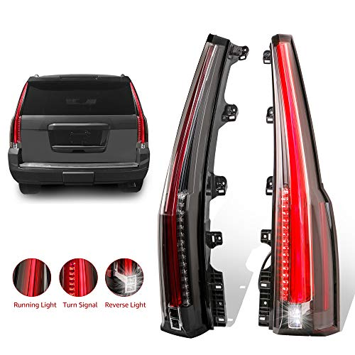 MOSTPLUS LED Tail Lights Rear lamp for Chevrolet Tahoe Suburban 2015 2016 2017 2018 Set of 2