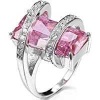Saengthong Charming 925 Sterling Silver Pink Kunzite Ring Wedding Engagement Jewelry New (7)