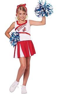84b3ab01658 Amazon.com  Kids Girls  Cheerleader Costume Uniform Cheerleading ...