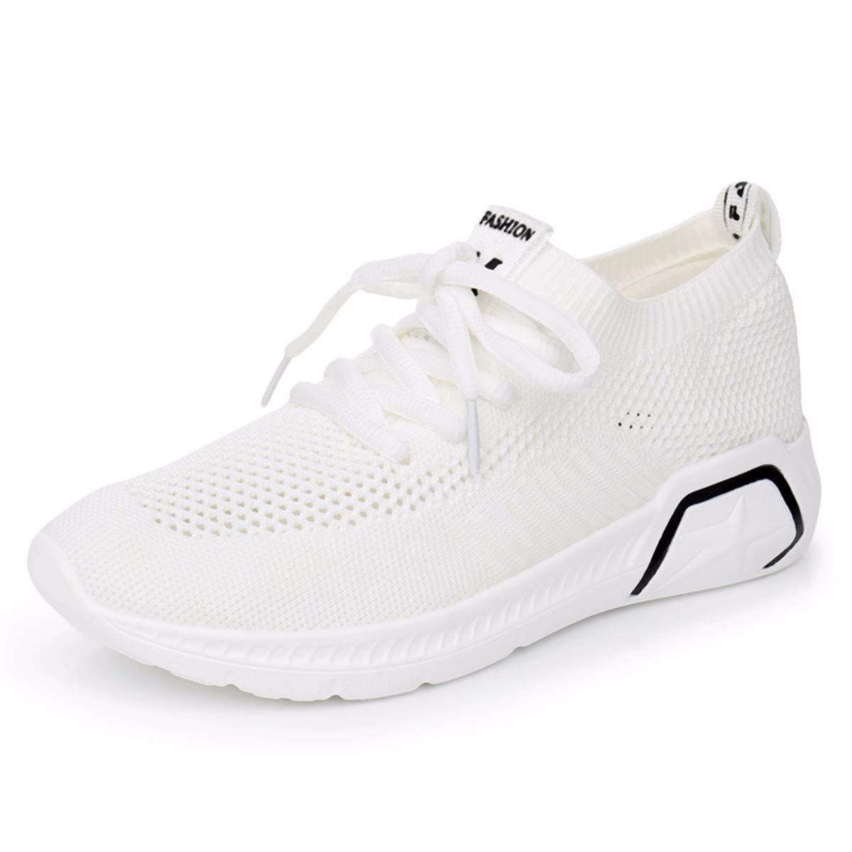 GTVERNH Damenschuhe Mode Sommer Gewirkt Damenschuhe Sport - Boden Boden Boden - Wasser Bohren Casual Schuhen Elastische Strümpfe Schuhe Atmungsaktive Frühjahr Schuhe. f83e32
