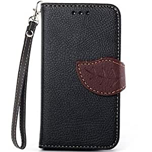 Zaki- Exquisite Leaf Design PU Leather Full Body Protective Case with Stand for Samsung Galaxy S3 Mini I8190(Assorted Colors) , Red