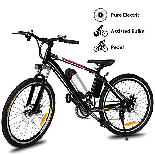 "Yiilove Electric Mountain Bike 26"" Wheel Ebike 36V Lithium-Ion Battery, Electric Bicycle 250W Powerful Motor, Shimano 21 Speed (Type1-26-Unfoldable)"