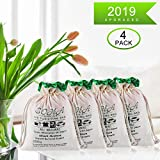 Nature Fresh Air Purifying Bamboo Charcoal Bag, Charcoal Bags Charcoal Odor Eliminators, Charcoal Bag Charcoal Bags For Odors, Home, Cars, Shoes, Closets Nature Fresh Air Purifying Bag 200G 4Pack