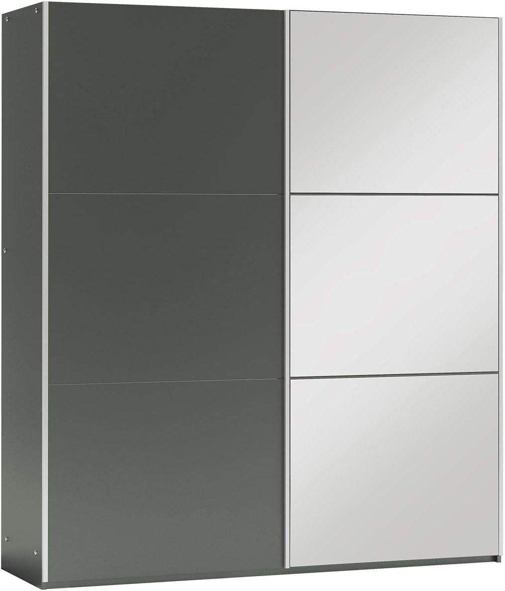 Mirjan24 Belize - Armario con espejo y barras para dormitorio, vestíbulo, armario de armario, armario elegante con puertas correderas, armario para dormitorio: Amazon.es: Juguetes y juegos