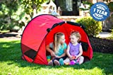 MODFAMILY PRODUCTS THAT SIMPLIFY LIFE Little Nook Children's Pop Up Play Tent for Fun Indoor and Outdoor Play (Red)
