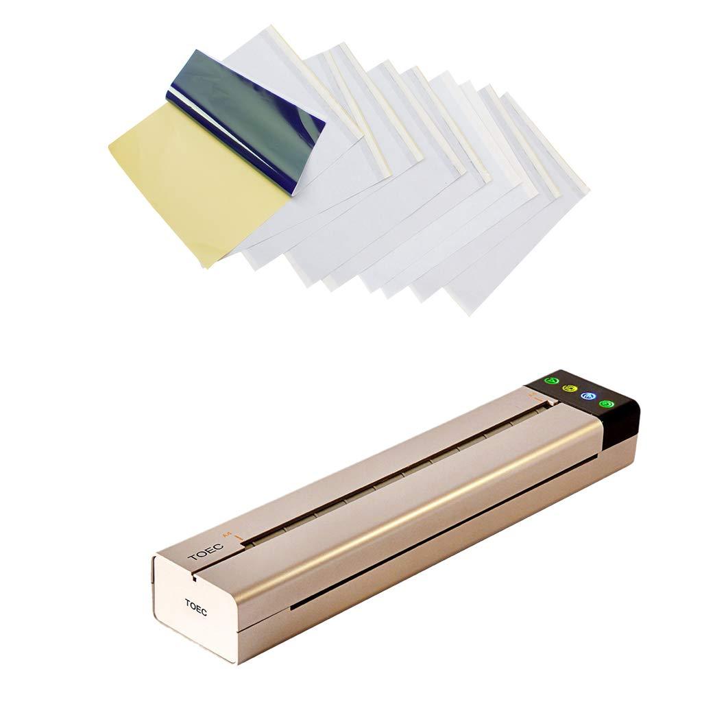 B Blesiya Portable USB Tattoo Stencil Printer Thermal Copier & 10 Sheets Transfer Paper Set
