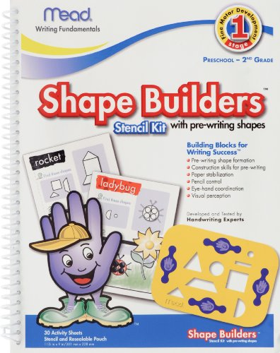 Mead Shape Builders with Stencil, 11 x 9 Inches, 30 Sheets (54042)