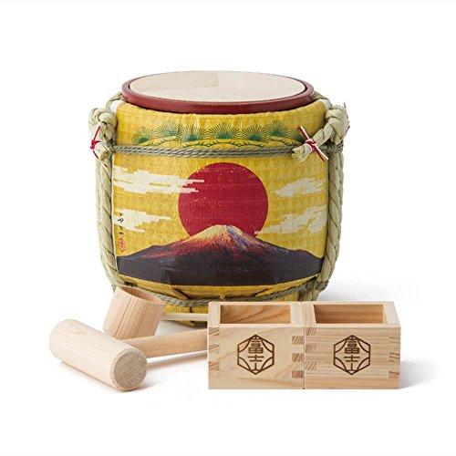 Mini Komodaru Sake-Barrel Set ''The rising sun-Goraiko'' by Komodaru