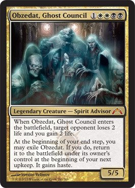 Single Card Ghost (Magic: the Gathering - Obzedat, Ghost Council (182) - Gatecrash)