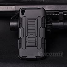 Alcatel OneTouch Idol 3 5.5in Case, Cocomii Robot Armor NEW [Heavy Duty] Premium Belt Clip Holster Kickstand Shockproof Hard Bumper Shell [Military Defender] Full Body Dual Layer Rugged Cover (Black)
