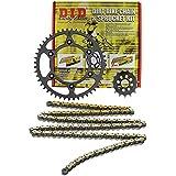 D.I.D MXS-008OEM 520VX2 Gold Chain and 14 Teeth/47 Teeth Sprocket Kit