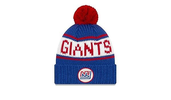 5cb93481688b Amazon.com   New Era New York Giants NFL 9Twenty Historic Retro Patch  Cuffed Knit Hat   Sports   Outdoors