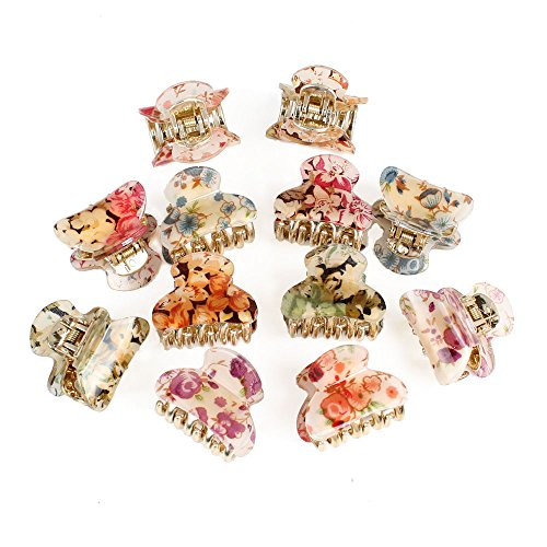 gsm-accessories-12pcs-womens-floral-print-small-size-acrylic-hair-claws-hc022x2