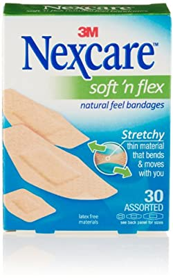 Nexcare Soft 'n Flex Assorted Bandages, Flexes and Conforms to Movement, 30 Count