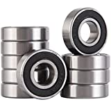 XiKe 10 Pack 6001-2RS Bearings 12x28x8mm, Stable Performance and Cost-Effective, Double Seal and Pre-Lubricated, Deep Groove Ball Bearings.
