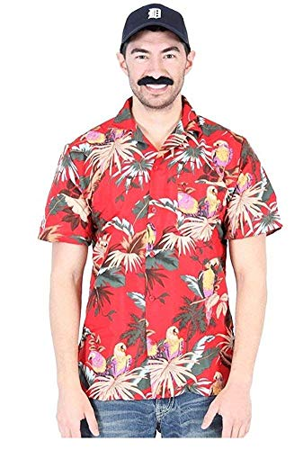 Magnum Jungle Bird PI Tom Selleck Red Costume Shirt and Hat