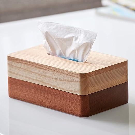 LJBOZ Caja de pañuelos/Caja de pañuelos de Madera/Mesa de Centro ...