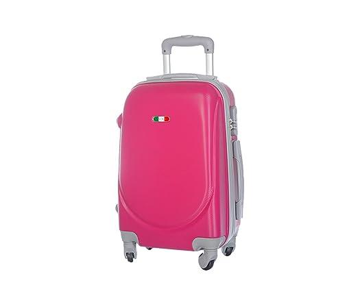 109 opinioni per Trolley da cabina marca JUSTGLAM bagaglio a mano cm.55 valigia rigida 4 ruote in