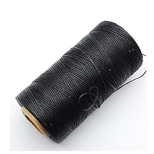 Hemore - Hilo Encerado para Coser de Cuero Negro de 1 mm 150D de Halloween, 125 g, decoración de Navidad