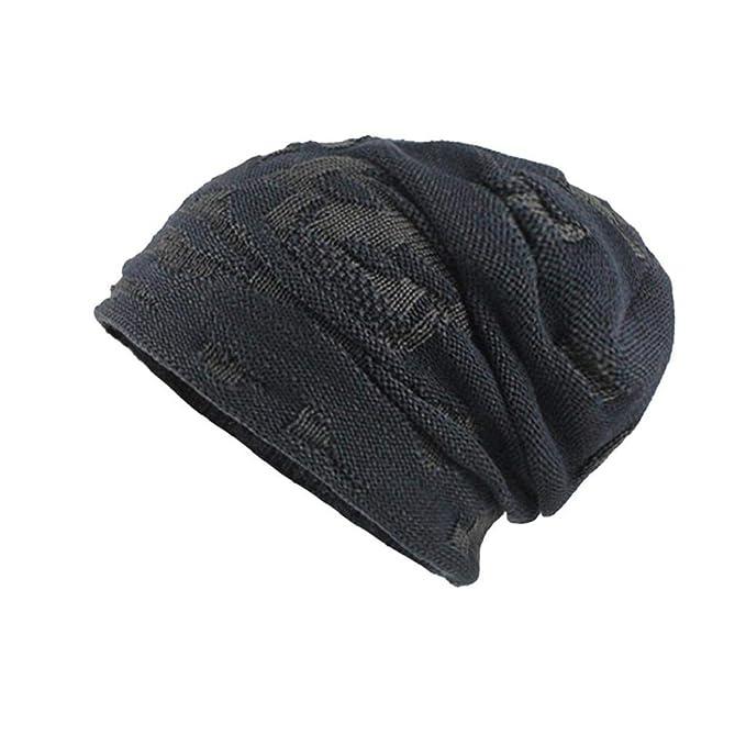 QUICKLYLY Gorros Tejidos Unisex Hombres/Mujeres Invierno Cálido Sombrero de Punto Al Aire Libre de Felpa Engrosamiento Gorro de Punto Sombrero de Esquí para ...