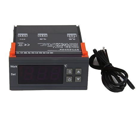 SODIAL(R)AC 90V-250V MH1210W Controlador De Temperatura Digital Con Pantalla