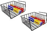 DecoBros 2PK Under Shelf Basket Wrap Rack, Bronze