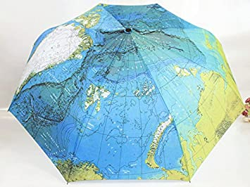 Amazon glovion world map automatic three folding travel rainy glovion world map automatic three folding travel rainy umbrella parasol with carrying sleeve gumiabroncs