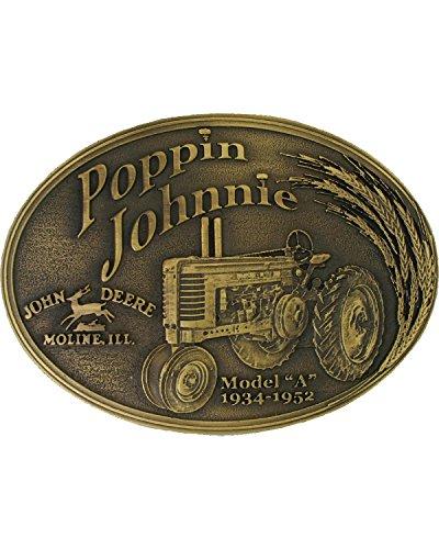 Montana Silversmiths Men's Model A Poppin Johnnie Heritage Attitude Belt Buckle Silver One Size (Buckles John Deere)