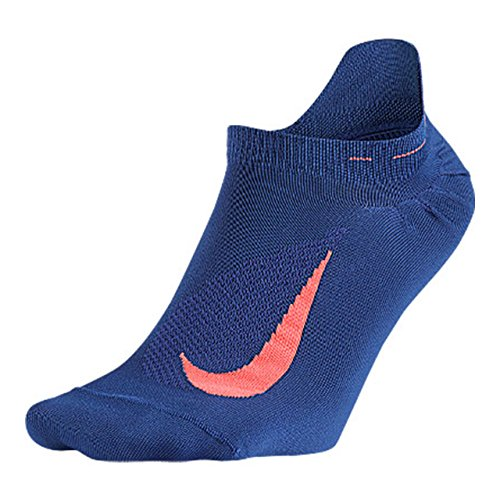 Nike Elite Running Lightweight No Show Deep Royal Blue/Hot Lava/Hot Lava No Show Socks Shoes