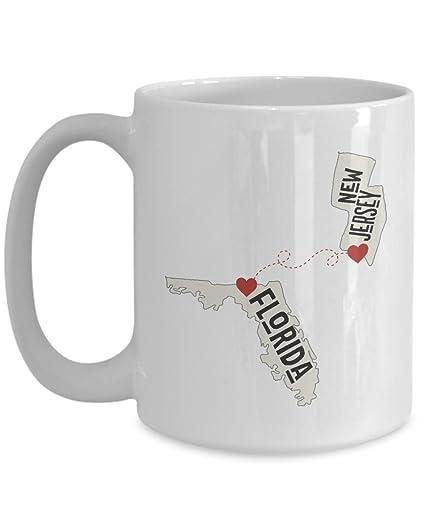 Amazoncom Florida And New Jersey Ceramic Coffee Mug Tea Cup
