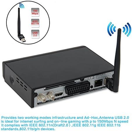 OVERBOX Freesat Satélite Receptor Digital Decodificador V8 M9S Pro DVB-S2 Receptor de TV, Full HD 1080P Freeview FTA Canals, USB WiFi Adaptador ...