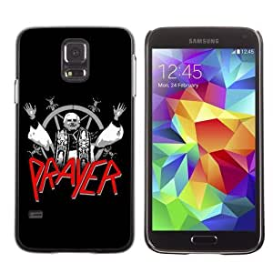 Licase Hard Protective Case Skin Cover for Samsung Galaxy S5 - Slayer Prayer LOL Pope