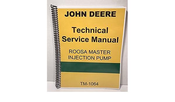 Roosa Master Fuel Injection Pump Manual John Deere Technical Service