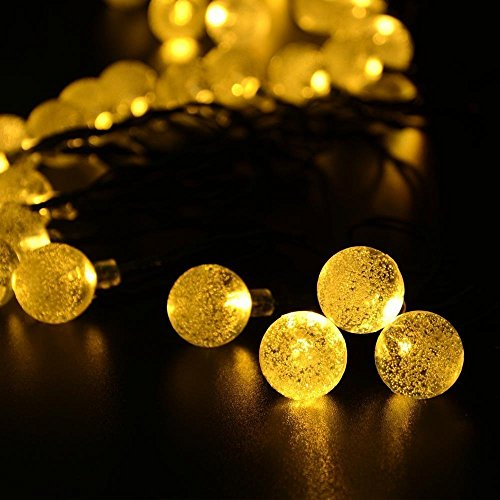 Globe String Lights Solar : Outdoor Solar String Lights, ProGreen 25ft 40 LED Crystal Ball Globe Lights, Waterproof Solar ...