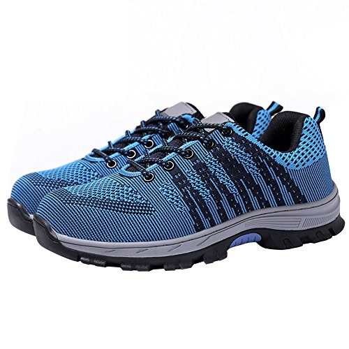 Safety 2 Blue Black Steel Shoes Men's Shoes Optimal Shoes Work Toe PHfOpfq