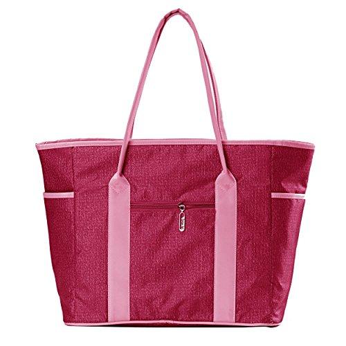 LuxJa Women's Waterproof Diaper Bag Red