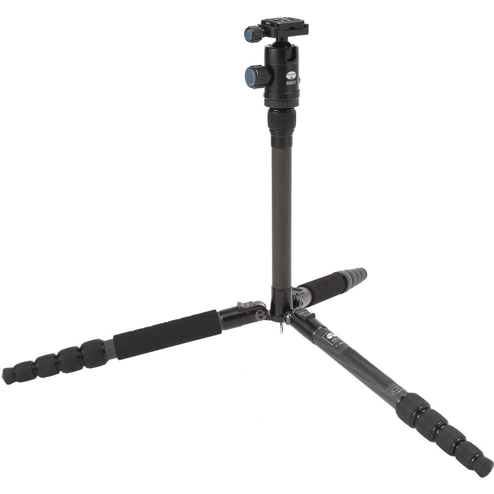 Sirui T 025x Carbon Fiber Tripod With C 10 Ball Head Universal 2 In 1 Portable Mini Folding For Dslr Hitam Only Camera Photo