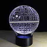 Star Wars Death Star Light Colorful 3D stereoscopic visual LED light USB table lamp TUOFENG night light touch pad switch,and produces unique lighting effects and 3D visualization - Amazing Optical Illusion