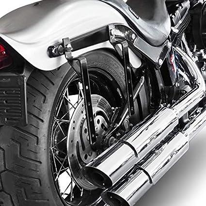 VTX 1300//1800// C//R//S VT 125//600// 750 C VT 1100 C2// C3 Aero Supports pour Sacoches Cavali/ères Rigides Motos Custom Honda Shadow 750 Spirit//Black Spirit