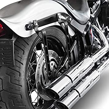 KinshopS A Pair Universal Motorcycle Cruiser Side Pannier Boxes Hard Saddle Bags Hard Case Trunk Storing Luggage