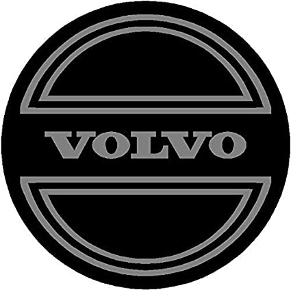 eye2dye 2.25 Volvo Black and Gray Replacement Decal Sticker 6 Piece Set