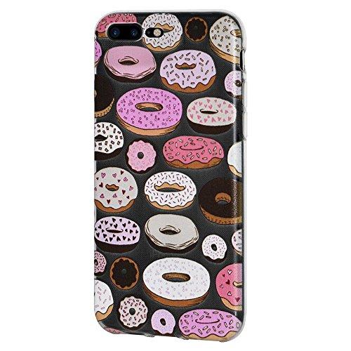 """Amzer Coque """"Imprimé Moderne Donut en gel souple en TPU pour Apple iPhone Transparent 7Plus"""